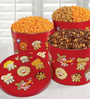Popcorn Gift Tins For Holidays and Special Occasions