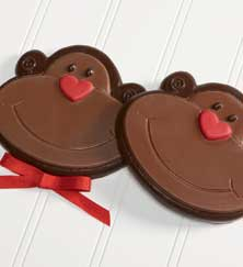Set of 2 Chocolate Monkeys
