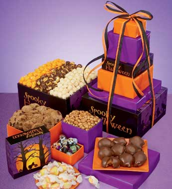 32290z Spooky Halloween Popcorn and Treat Tower