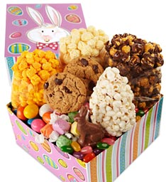 Easter Tins and Pails of Popcorn Gifts