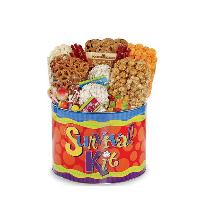 The Popcorn Factory Survival Kit Gift Tin
