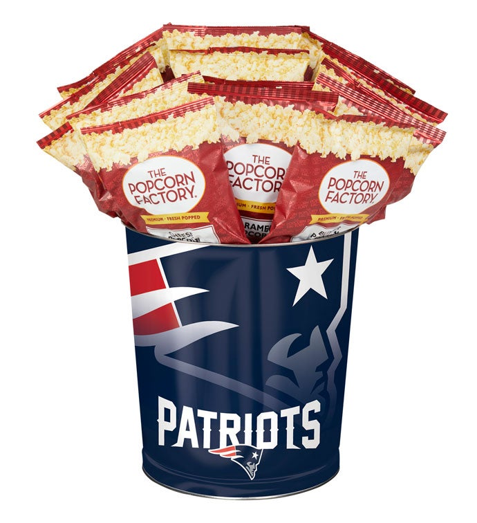 New England Patriots 3-way Gourmet Popcorn Tin